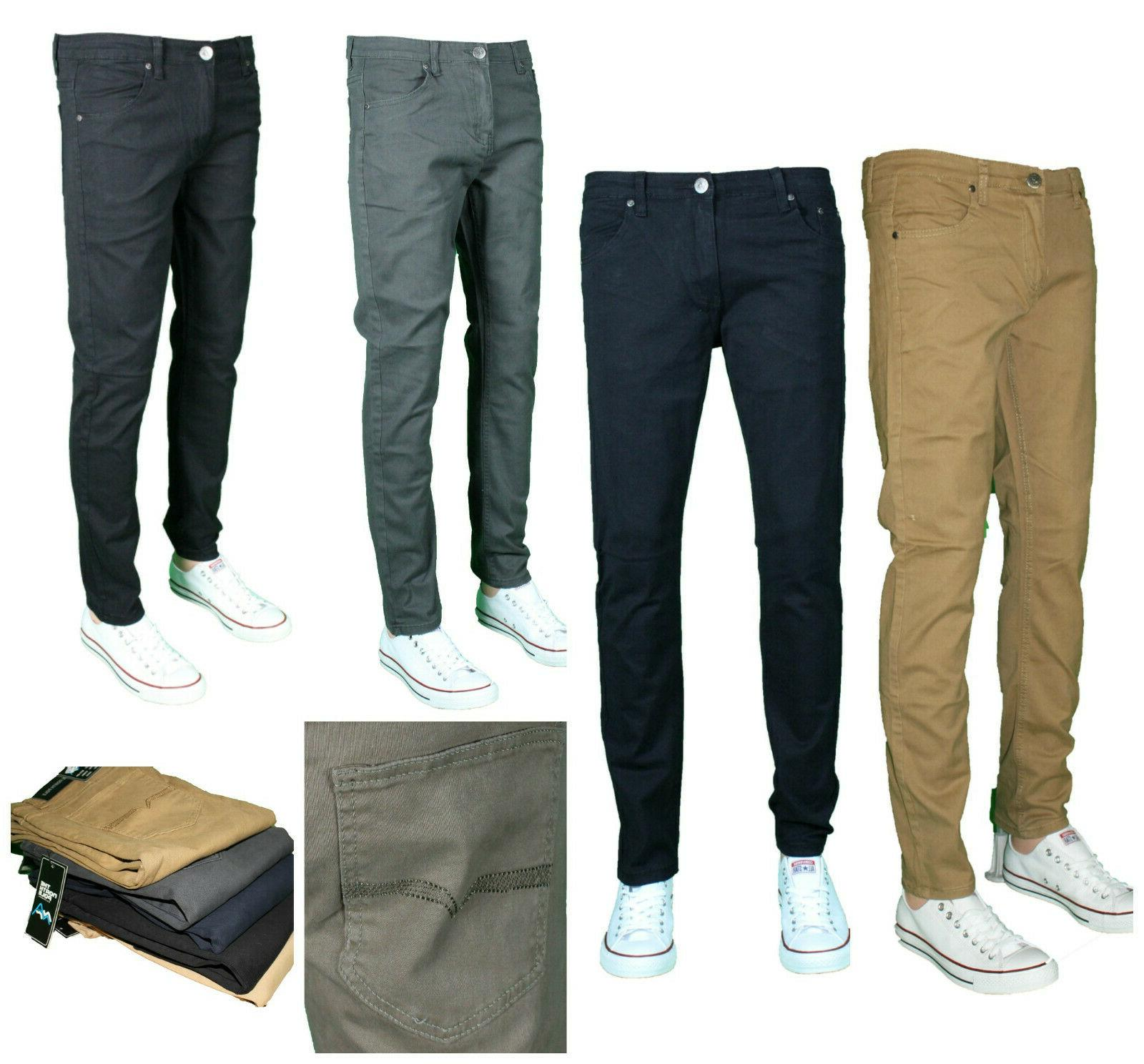 mens slim fit stretch pants casual trousers