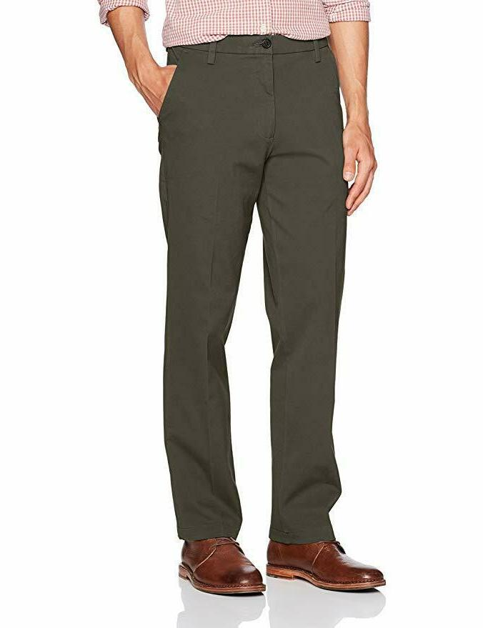 mens straight fit workday khaki pants