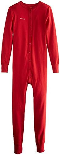 Carhartt Men's Midweight Cotton Union Suit, Red, Large