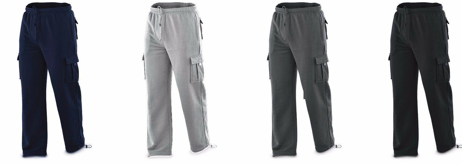 New North Pole and More Men'S Cargo Sweat Pants Track Fleece