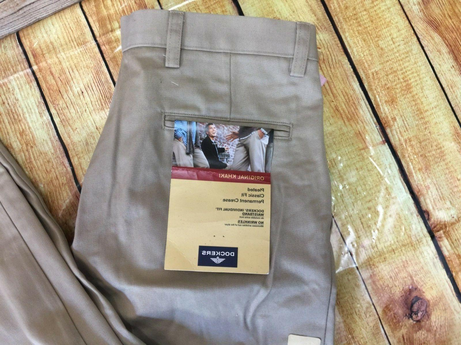 New Pants Beige X 34 Pleated Fit