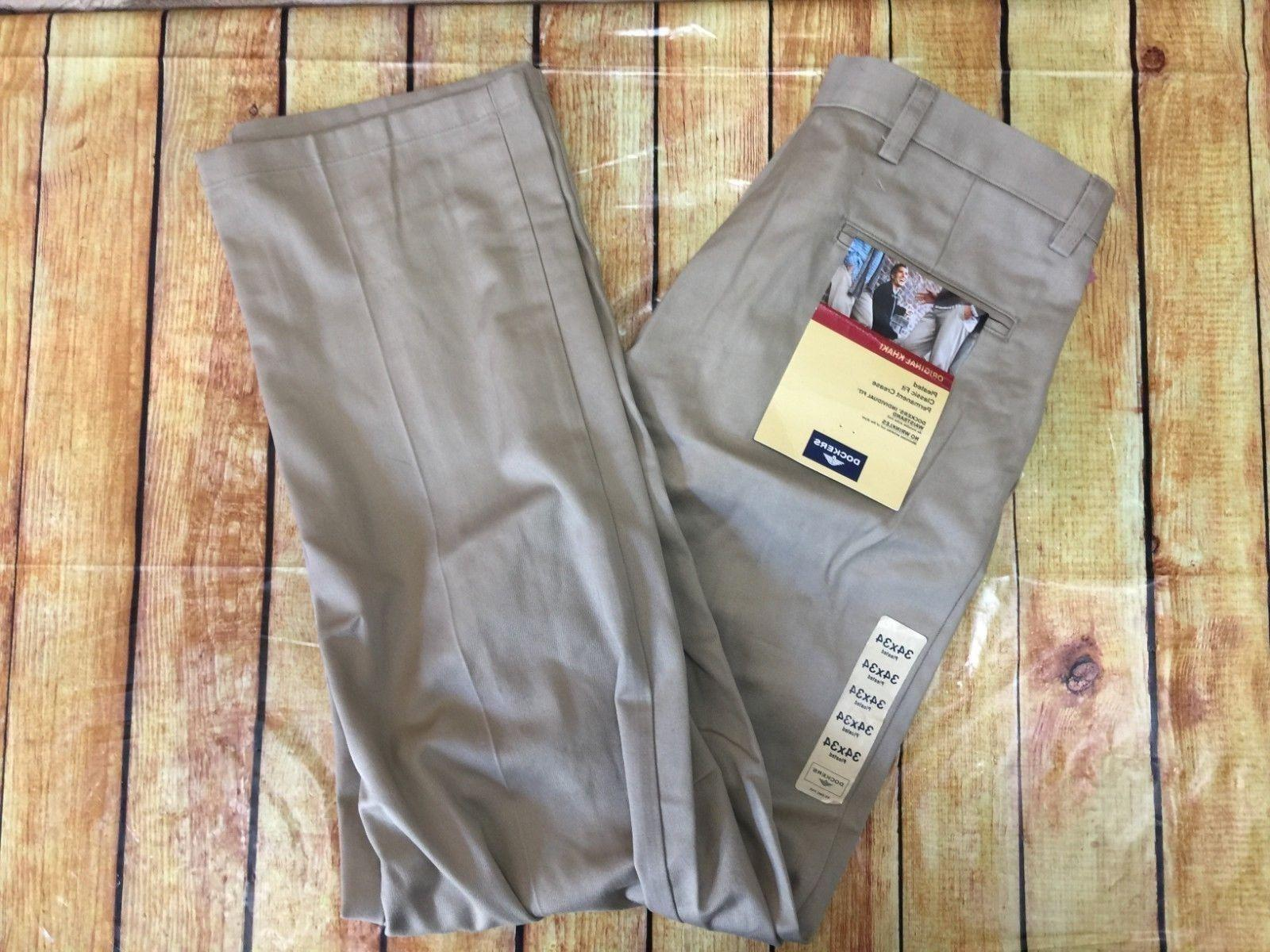 new original khaki pants beige mens 34