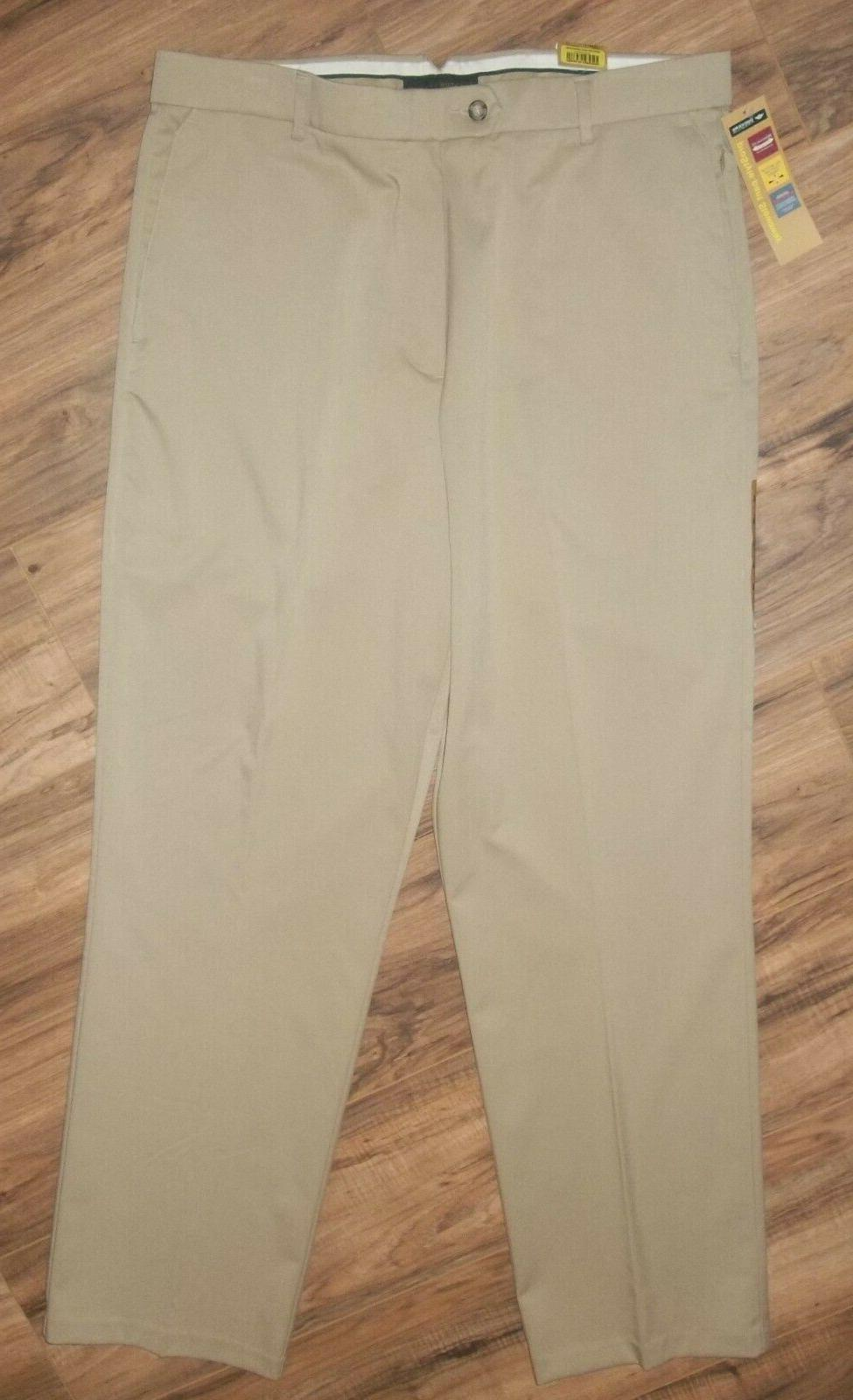 NWT Men's DOCKERS Dress Pants 34 Individual Relaxed
