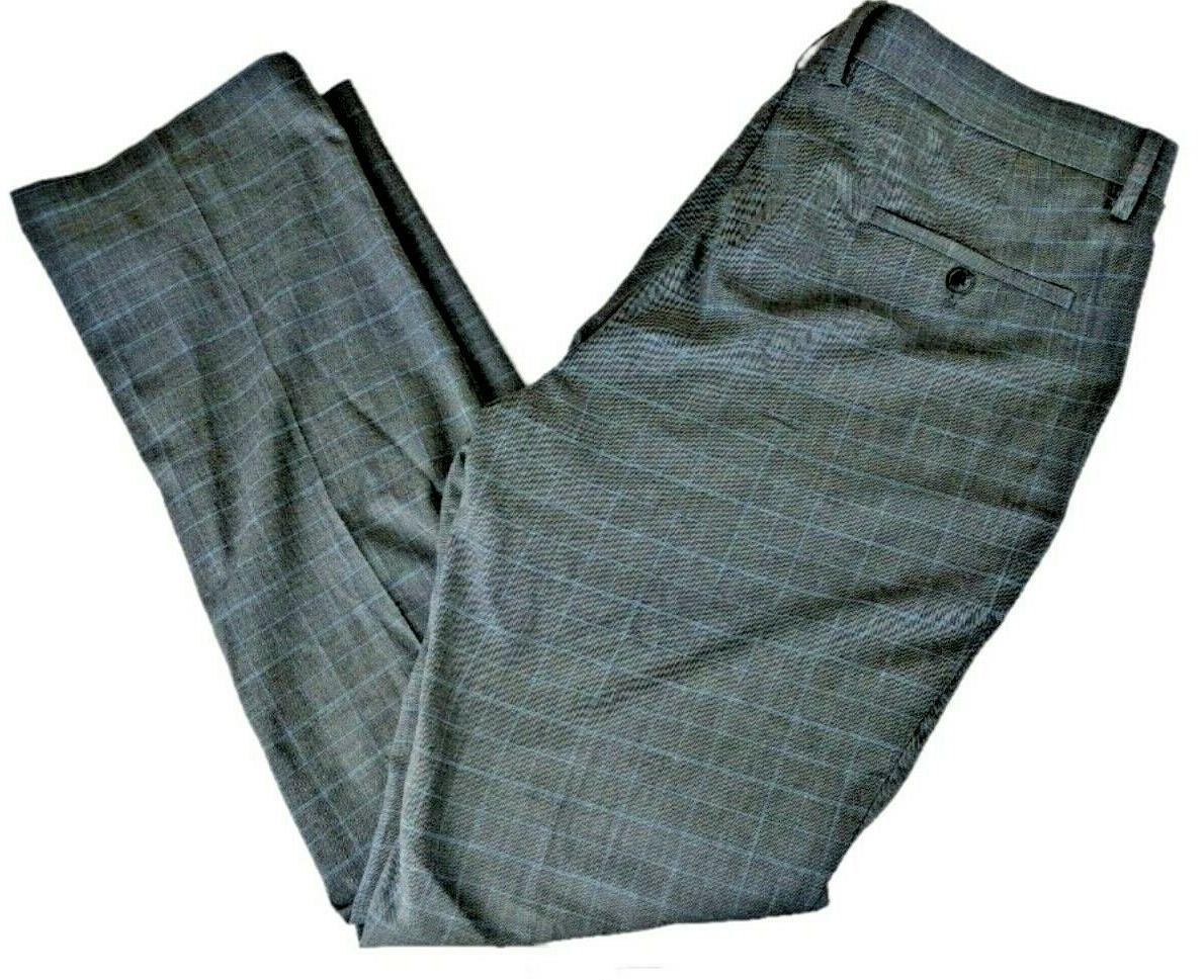 NWT Men's Kenneth Reaction 38 32 Gray Grid Front
