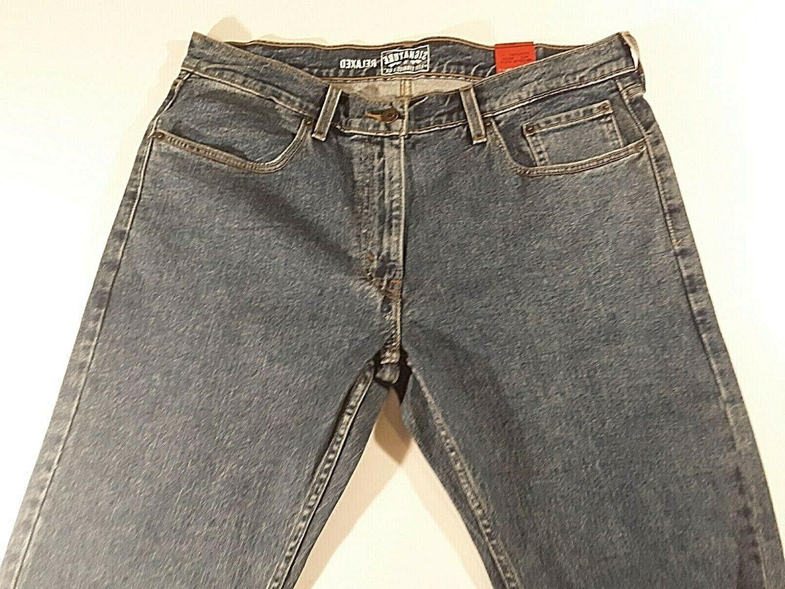 NWT RELAXED FIT STRAIGHT LEG BLUE JEAN PANTS