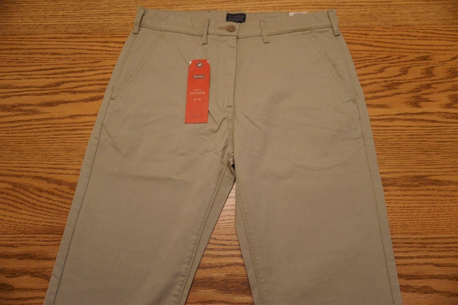 NWT MEN'S STRAIGHT CHINO Below Waist Khaki Stretch $59