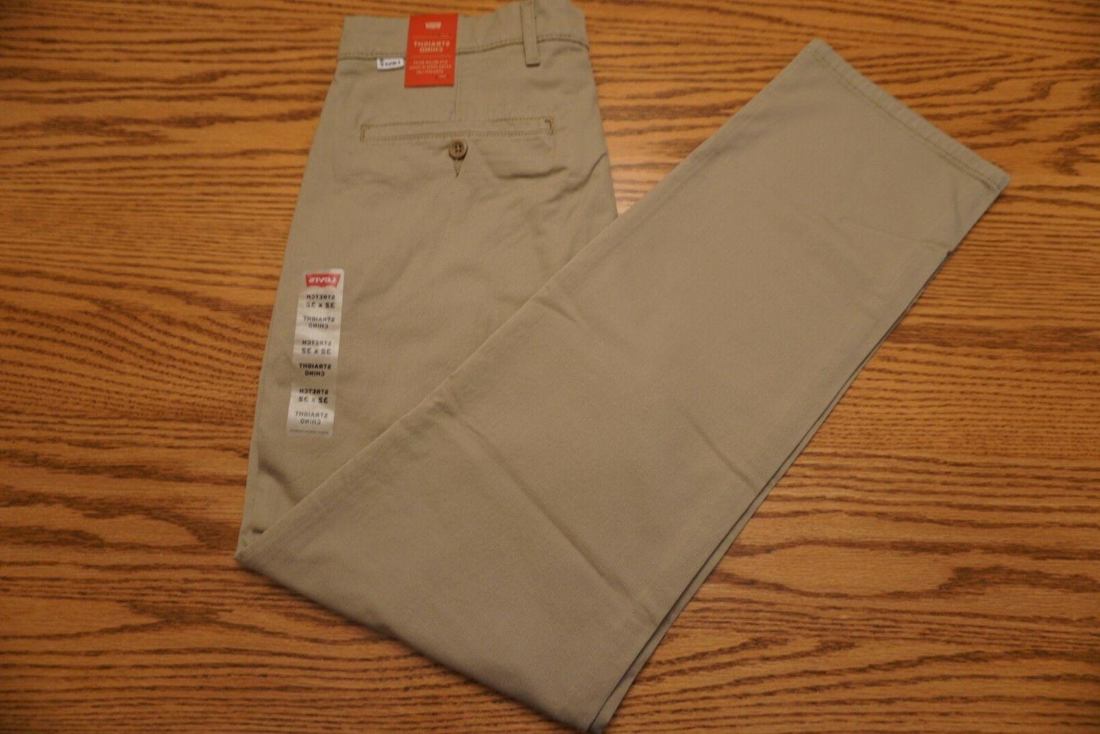 nwt men s levi straight chino pants
