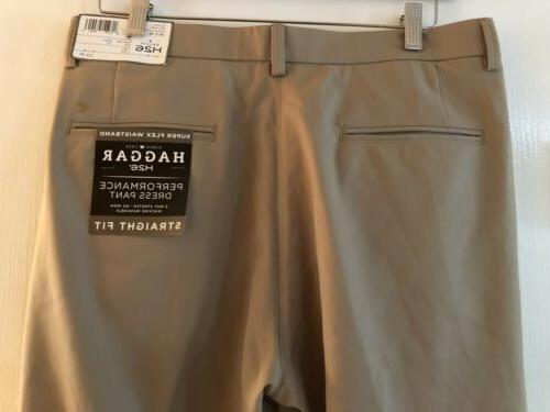 NWT H26 Khaki Super Flex Waistband Size 34x34 New