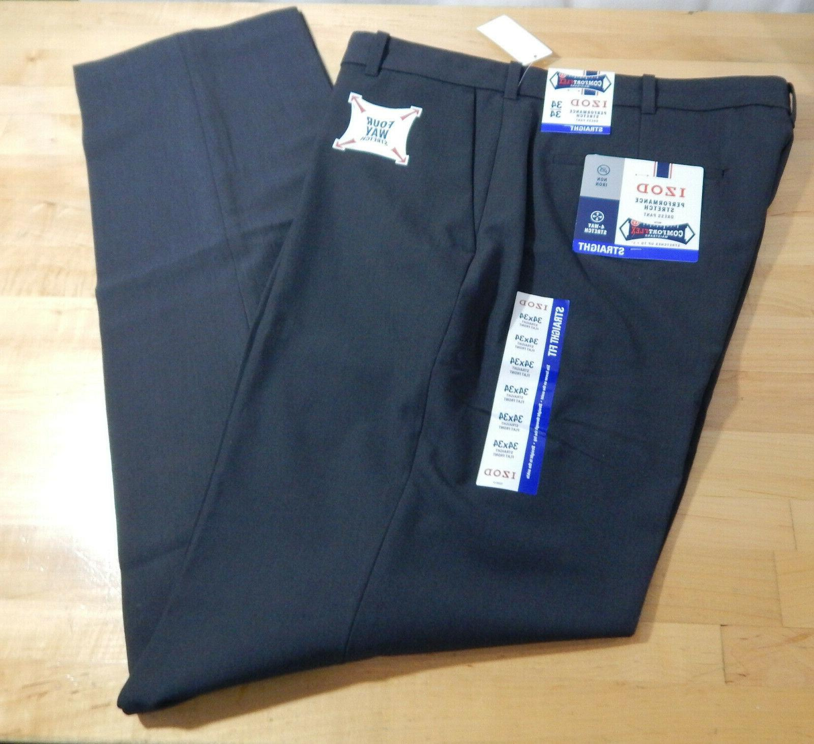 nwt men s performance flat front straight