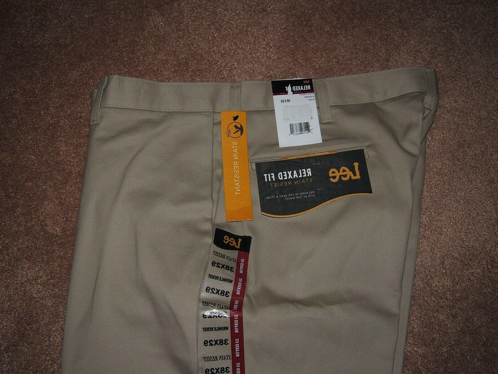 NWT LEE Fit Flat Pants 38x29