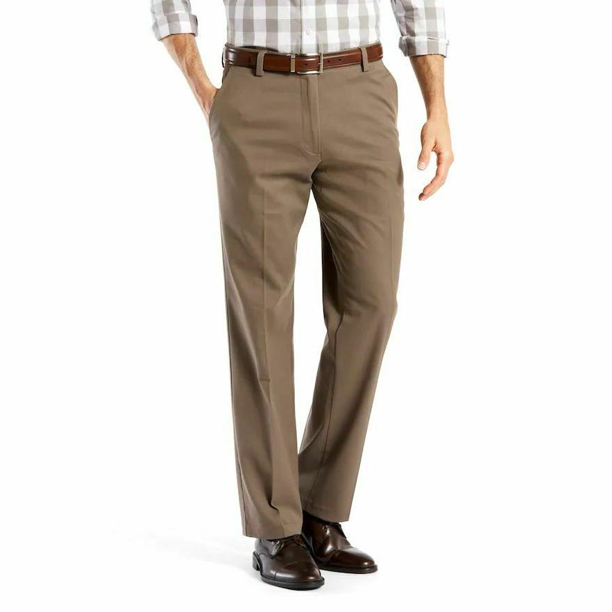 Dockers Straight-Fit Flat-Front Motion Pants Dark