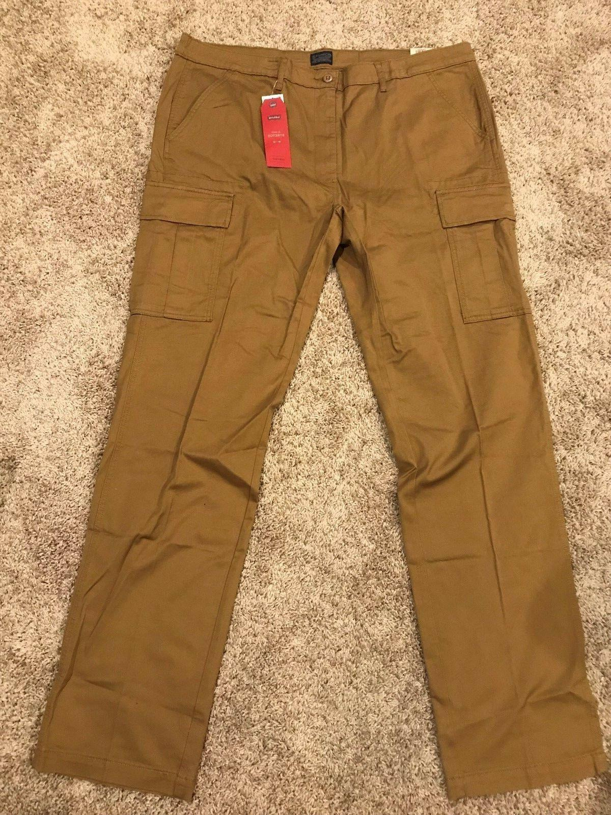 NWT 541 ATHLETIC FIT W/STRETCH CARGO PANTS MANY RT$79