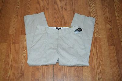 NWT Mens Wrinkle Essential Khaki Pants Slacks X
