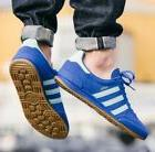 ADIDAS ORIGINALS JEANS CITY MENS SUEDE SHOES BLUE HAMBURG BE