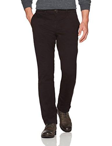 straight fit washed chino pant