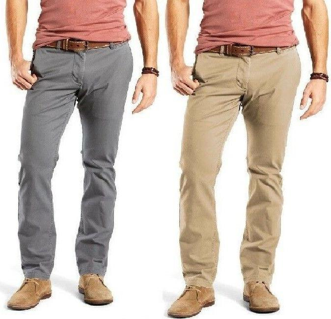 DOCKERS The Broken In Washed Khaki Straight Fit Men's Pants