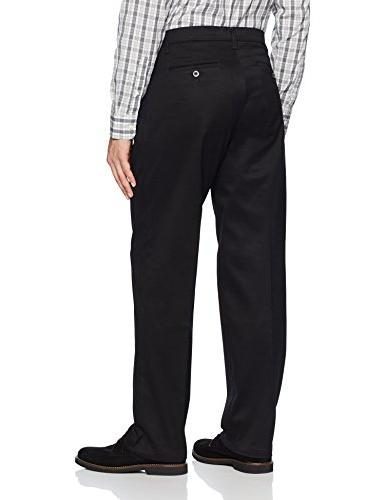 LEE Men's Stretch Relaxed Fit Front Pant, Black, x 32L