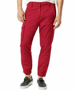 Levi`s Men's Cargo Jogger Pants Red 29 32 x 30 Slim Fit Band