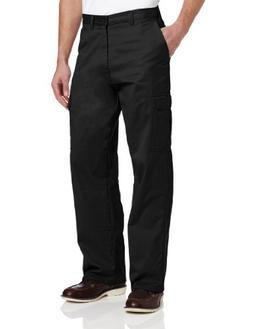 Dickies Men's Loose Fit Cargo Work Pant, Black, 38x32