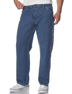 Dickies Men's Loose Fit Carpenter Jean, Stone Washed, 42x30