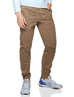 Match Men's Loose Fit Chino Washed Jogger Pant