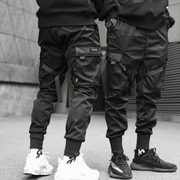 men casual streetwear joggers cargo pants sweatpants