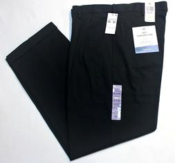Men Dockers Comfort Khaki Relaxed Fit Pleated Black Stretch