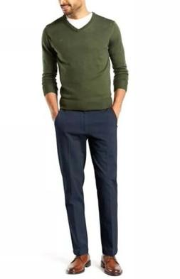 DOCKERS Men Navy Blue SLIM TAPERED FIT KHAKI CASUAL WORKDAY
