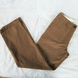 Dockers Men's 32X34 Pants 100% Cotton Brown Distressed Pocke