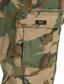 Men's Wrangler Camo FLEX Cargo Pants Relaxed Fit Tech Pocket