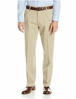 Dockers Men's Comfort Khaki Stretch Relaxed-Fit Flat-Front,