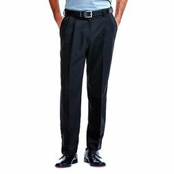 Haggar Men's Cool 18® Solid Pleat Front Pant Classic Fit 41