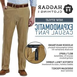 Men's Haggar Expandomatic Stretch Classic-Fit Casual Pants 2