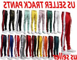MEN'S HIPSTER TECHNO TRACK PANTS WITH SIDE COLOR STRIPE 14 C