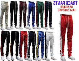 MEN'S HIPSTER TECHNO TRACK PANTS WITH SIDE COLOR STRIPE 13 C