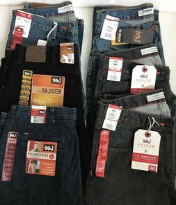 Men's New LEE Jeans Pants 5 Pockets Zip-Front -CHOICE Size &