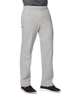 Champion Men's Open Bottom Jersey Pants Gym w/ Pockets Authe