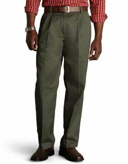 DOCKERS Men's Pants 33 X 32 Olive Green 100% Cotton Classic