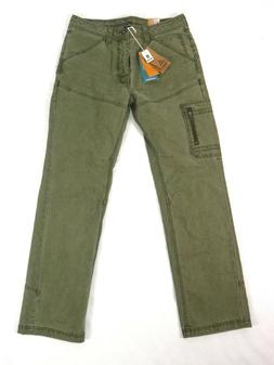 Prana Men's Pants US 32x32 Bentley Cargo Green Organic Cotto