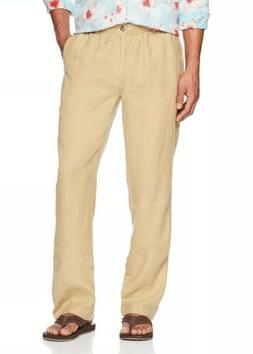 28 Palms Men's Relaxed-Fit 100% Linen Pant with Drawstring X