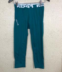 Tesla Performance Baselayers Compression Cropped Pants Green