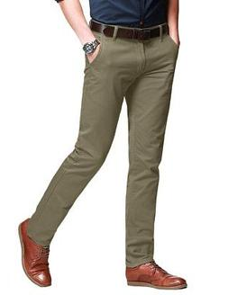 Match Men's Slim Fit Tapered Stretchy Casual Pants 32W x 31L