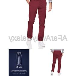 Goodthreads Men's Slim-Fit Washed Chino Pant Burgundy 33W x