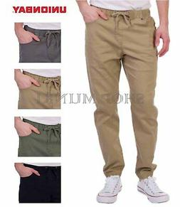 men s stretch twill jogger casual relaxed
