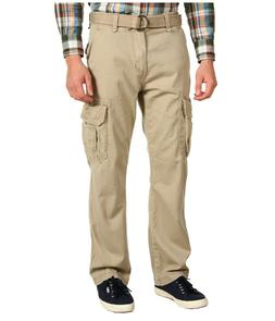 Unionbay Men's Survivor Belted Cargo Pants, Size 34X30, Dese