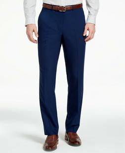 men s slim fit modern blue solid