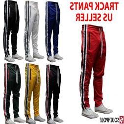 MEN'S SOUTHPOLE TECHNO TRACK PANTS WITH SIDE COLOR STRIPE 7