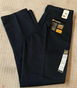 Carhartt Men's Twill Navy Work Pants Relaxed Fit Stain Repel