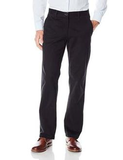 Lee Men's Weekend Chino Straight Fit Flat Front Pant-Black-3