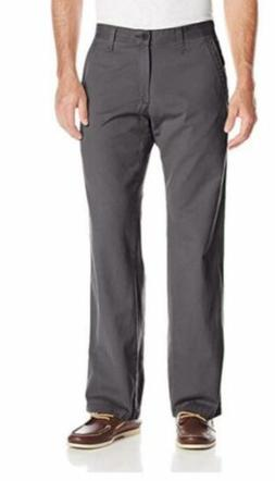 Lee Men's Weekend Chino Straight Fit Flat Front Pant-Ash-34X